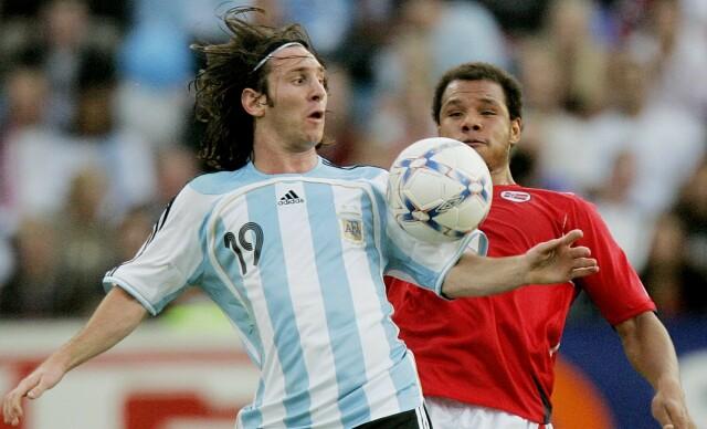GODE OPPLEVELSER: Daniel Braaten har spilt mot mange av tidenes beste spillere. Her mot Lionel Messi og Argentina på Ullevaal stadion i Norges 2-1-seier mot Argentina i 2007. Foto: NTB Scanpix